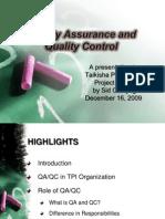 QAQC in TPI Organization Rev 0 12.16.09