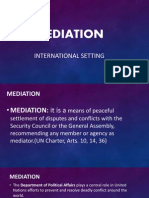 Mediation report