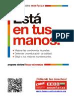 Programa Electoral Enseñanza Pública de Extremadura