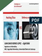 Hackin Etico vs Defensa Profundidad Juanberrio
