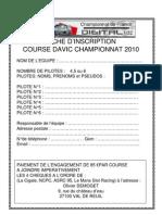 Inscription Course Champion Nat de France 2010