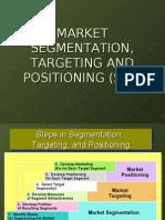 STP - Market Segmentation,Targeting & Positioning