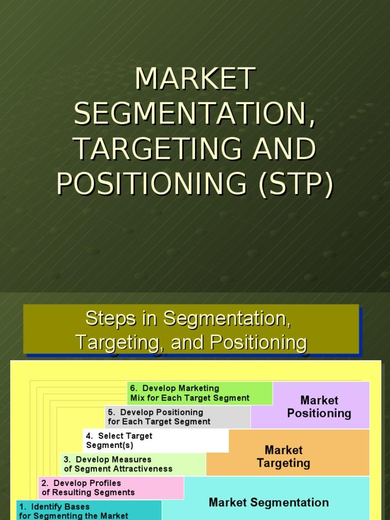 stp segmentation targeting positioning