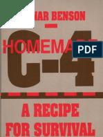 C-4, Homemade C-4 - Ragnar Benson - Paladin Press