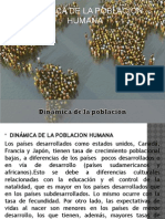 Diapositivas Dinamica de La Poblacion Humana