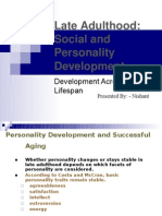 Late Adulthood Social and Personality Development