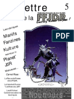 La Lettre de la FFJdR n.5 - mars 1999