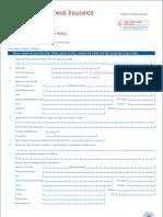 Individual Mediclaim Claim Form