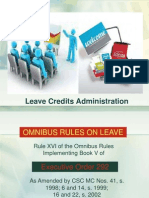 Leave Credits Administration