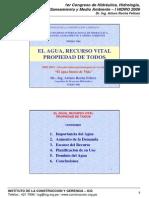El Agua, Propiedad Vital de Todos (Diaspositivas) - DR. ING. ARTURO ROCHA FELICES