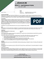 property info sheet