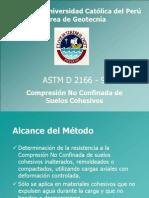 Compresión No Confinada de Suelos Cohesivos - PUCP
