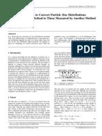 Conversion Factors to Convert Particle Size Distributions