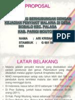 Ppt Proposal Malaria