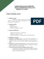 Schema Recapitulativa Privind Structurile Patrimoniale de Activ Respectiv Pasiv