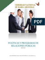 Políticas y Programas de Relaciones Públicas