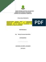 Formato Para Proyecto Vinculacion