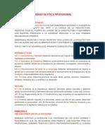 Codigo de Etica Profesional Arquitectura.