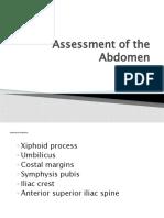 Assessment of the Abdomen