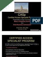 casp talk sbc mdc 11-30-09