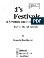 God's Festivals in Scripture and History--Part 2