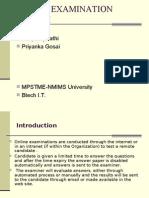 online examination system - Presentation