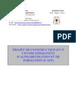 Projet de Construction CPAF (Mondaga)