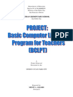 Project Proposal Computer Literacy Program
