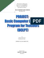 Computer Literacy Program Thesis   Teachers   Educational Technology Sample Project