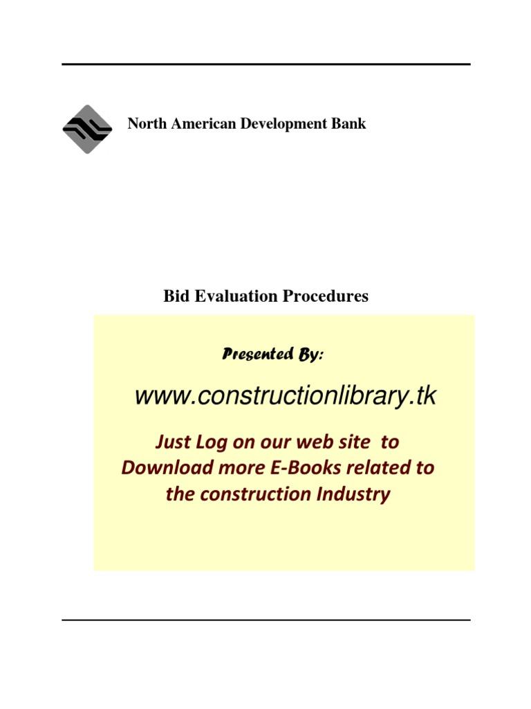 Bid Evaluation Procedure | Procurement | Evaluation
