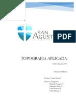 Informe Topografía - planimetría Minera