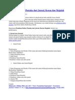 Penulisan Daftar Pustaka Dari Jurnal