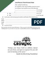 Building Fund Pledge Campaign
