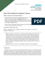 Stem Cell Treatment for Alzheimer's Disease