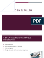 Seguridad en El Taller, Manufactura de Materiales, Produccion de Materiales Ferrosos