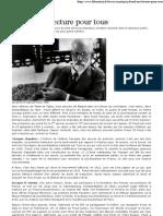20100102 Libération Freud (domaine public) une lecture pour tous Par Frédérique Roussel