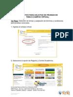Instructivo Para Solicitud de Pruebas en Tema D 2014-II