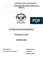 Env. Eng -II Practical Manual