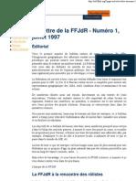 La Lettre de la FFJdR n.1 - juillet 1997