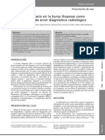 Fenómeno de vacío en la bursa iliopsoas como posible fuente de error diagnóstico radiológico