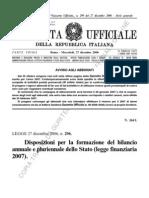 L. 296_06 - Finanziaria 2007 - Estratto - Riqualificazioni Energetiche