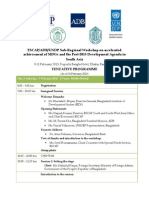 MDGs Workshop Tentative Programme-South Asia 10Feb2013-Dhaka-Annotated
