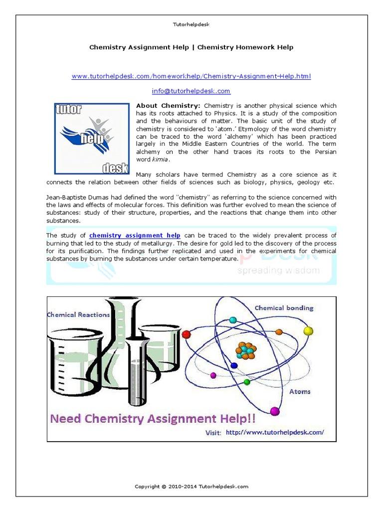 Chemistry Assignment Free Chemistry Assignment  Assignment Topics  Chemistry Assignment
