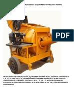 Fabricacion de Mezcladora de Concreto Tipo Tolva y Trompo