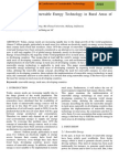 Implementation of Renewable Energy Technology in Rural Areas of Developing Countries