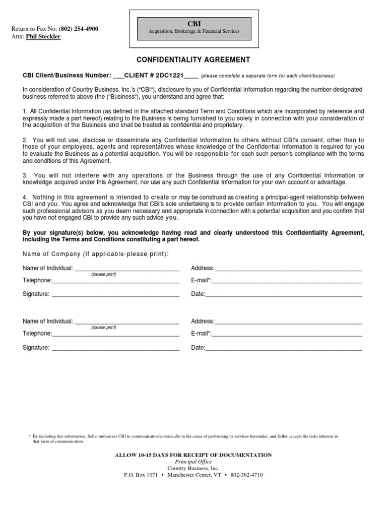 Confidentiality Agreement Indemnity Due Diligence
