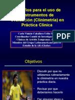 Desafíos para establecer clinimetría en la practica reumatológica
