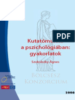 Kutatómunka a pszichológiában