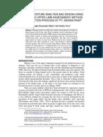 Working Posture Analysis and Design Using Rula