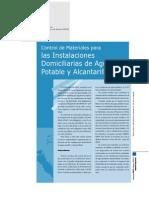 Instalaciones Domiciliarias de Agua Potable y Alcantarillado
